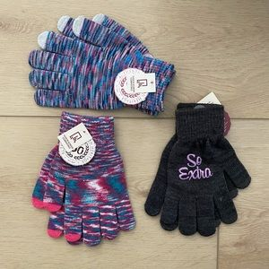 SO Women's Texting Gloves 3 Pack Bundle